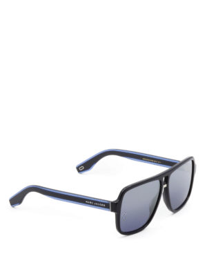 Marc Jacobs: sunglasses - Blue acetate square sunglasses
