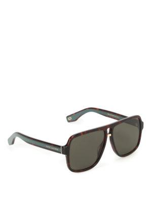 Marc Jacobs: sunglasses - Dark Havana aviator sunglasses
