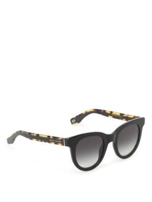 Marc Jacobs: sunglasses - Havana black rounded sunglasses