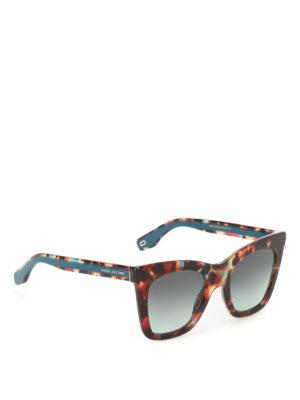 Marc Jacobs: sunglasses - Havana Turquoise squared sunglasses