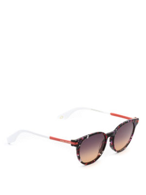 Marc Jacobs: sunglasses - Red marbled acetate sunglasses