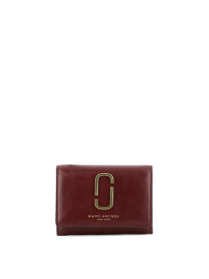 Marc Jacobs: wallets & purses - Golden logo leather card holder
