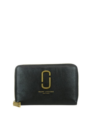 Marc Jacobs: wallets & purses - Leather zipped wallet