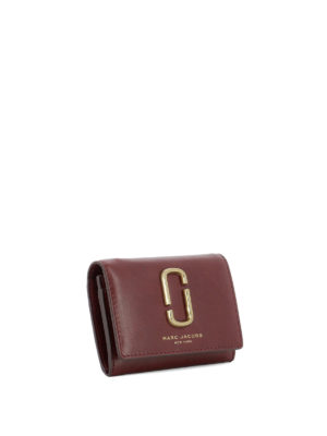 Marc Jacobs: wallets & purses online - Golden logo leather card holder