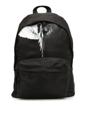 Marcelo Burlon: backpacks - Aish printed nylon backpack