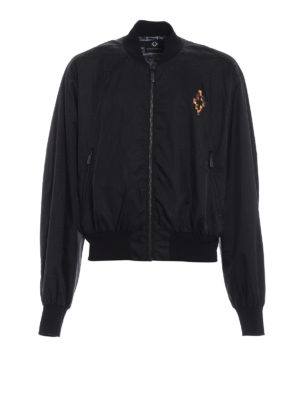 Marcelo Burlon: bombers - Fire Cross nylon bomber jacket