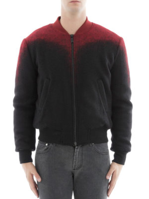 Marcelo Burlon: bombers online - Aorjek shaded wool blend bomber