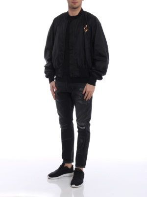 Marcelo Burlon: bombers online - Fire Cross nylon bomber jacket