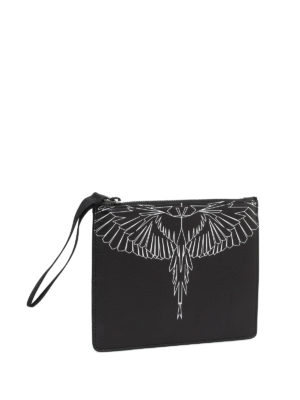 Marcelo Burlon: Cases & Covers online - Asierbag printed leather pouch