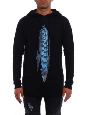 Marcelo Burlon: crew necks online - Genek hooded over sweater