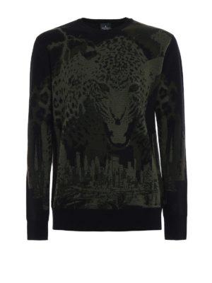 Marcelo Burlon: crew necks - Sulupe wool jacquard sweater