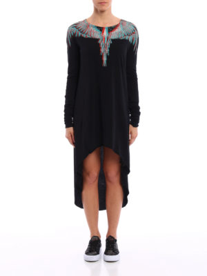 Marcelo Burlon: knee length dresses online - Veronica asymmetric dress