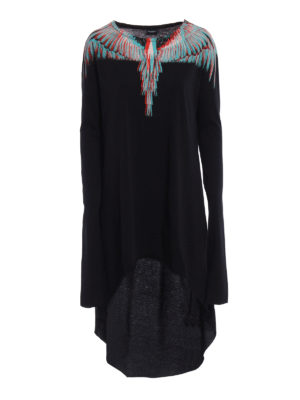 Marcelo Burlon: knee length dresses - Veronica asymmetric dress