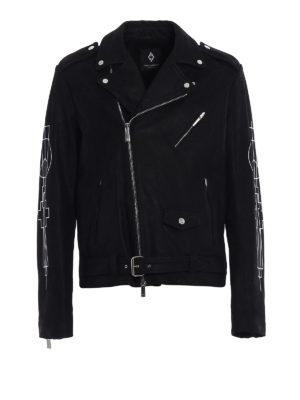 Marcelo Burlon: leather jacket - Mansi leather jacket