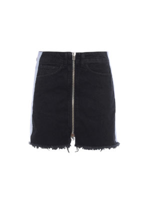 Marcelo Burlon: mini skirts - Cross Tape denim mini skirt