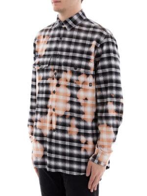 Marcelo Burlon: camicie online - Camicia a quadri scolorita