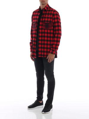 Marcelo Burlon: camicie online - Camicia Dogo in cotone a quadri rossi