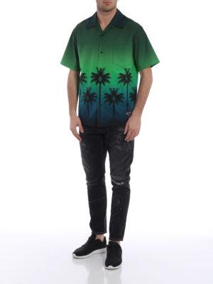 Marcelo Burlon: camicie online - Camicia Green Palm a maniche corte