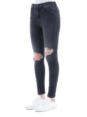 Marcelo Burlon: jeans skinny online - Jeans skinny Leopard