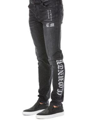 a sigaretta - Jeans cinque tasche con stampa County