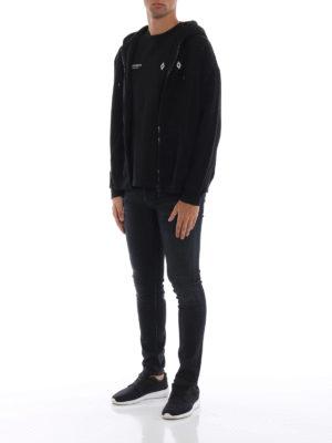 Marcelo Burlon: Felpe e maglie online - Felpa Wings Barcode con zip e cappuccio