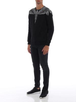Marcelo Burlon: Felpe e maglie online - Felpa Wings in cotone nero