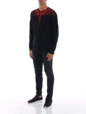 Marcelo Burlon: Felpe e maglie online - Felpa Wings nera e rossa