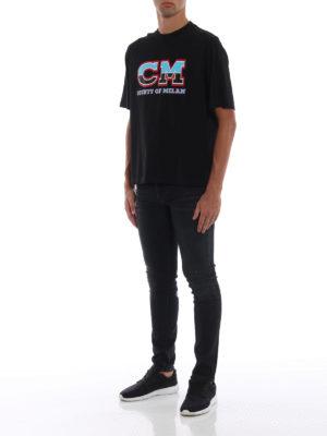 Marcelo Burlon: t-shirt online - T-shirt CM nera in cotone