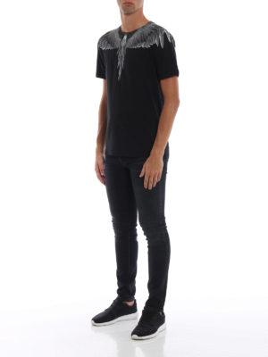 Marcelo Burlon: t-shirt online - T-shirt Black Wings