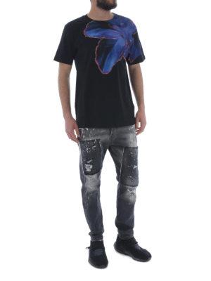 Marcelo Burlon: t-shirt online - T-shirt Blue Flower