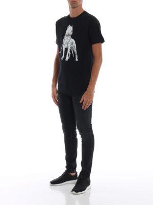 Marcelo Burlon: t-shirt online - T-shirt Dogo nera in cotone
