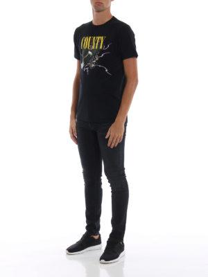 Marcelo Burlon: t-shirt online - T-shirt nera Eagle in cotone