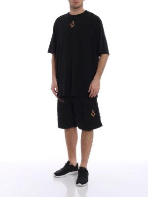 Marcelo Burlon: t-shirt online - T-shirt oversize Fire Cross