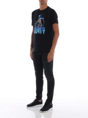 Marcelo Burlon: t-shirt online - T-shirt Tiger in cotone nero