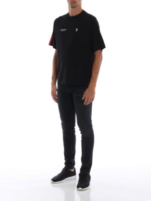 Marcelo Burlon: t-shirt online - T-shirt nera Wings Barcode