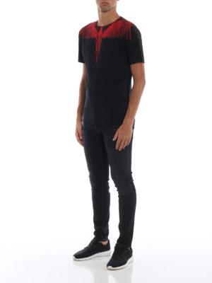 Marcelo Burlon: t-shirt online - T-shirt Wings nera e rossa