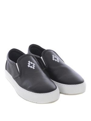 Marcelo Burlon: sneakers online - Slip-on in pelle con stampa logo