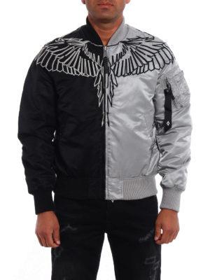 Marcelo Burlon: padded jackets online - Talca Alpha two-tone bomber jacket