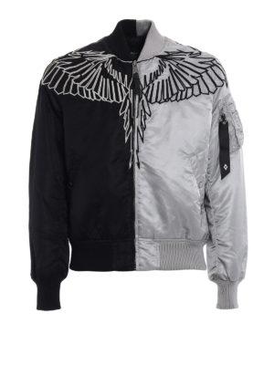 Marcelo Burlon: padded jackets - Talca Alpha two-tone bomber jacket