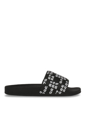 Marcelo Burlon: sandals - Lea Pool slide flat sandals
