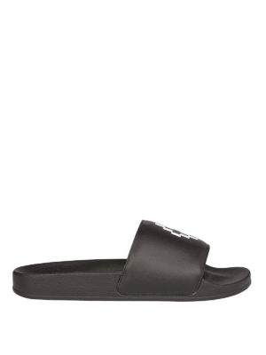 Marcelo Burlon: sandali - Ciabatte con logo stampato
