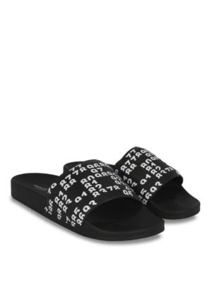 Marcelo Burlon: sandals online - Lea Pool slide flat sandals