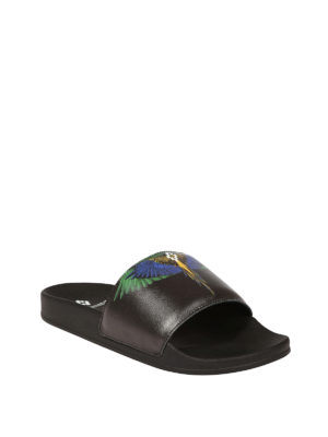 Marcelo Burlon: sandals online - Wings print rubber sliders