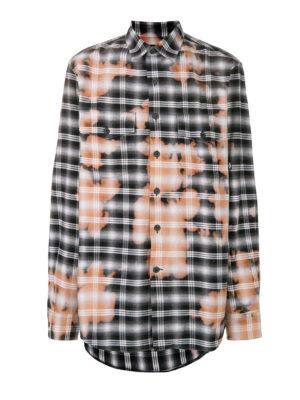 Marcelo Burlon: camicie - Camicia a quadri scolorita