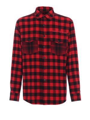 Marcelo Burlon: camicie - Camicia Dogo in cotone a quadri rossi