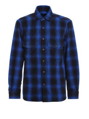 Marcelo Burlon: shirts - Fainu wolf print check shirt