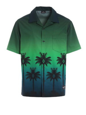 Marcelo Burlon: shirts - Green Palm short sleeved shirt