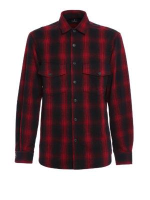 Marcelo Burlon: shirts - Iamens eagle print check shirt