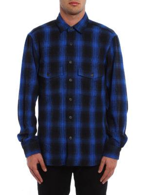 Marcelo Burlon: shirts online - Fainu wolf print check shirt