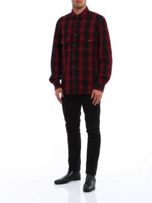 Marcelo Burlon: shirts online - Iamens eagle print check shirt